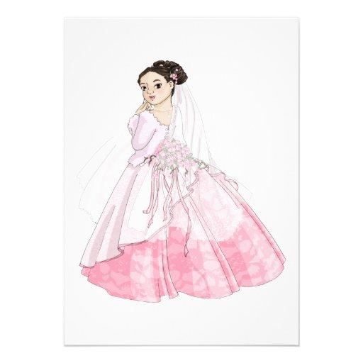 Sakura Bride Personalized Invitations