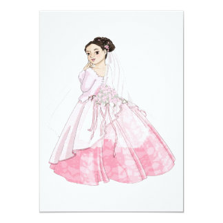 Sakura Bride 5x7 Paper Invitation Card