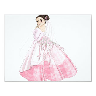 Sakura Bride 11 Cm X 14 Cm Invitation Card