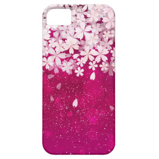 Sakura Cherry Blossoms Fuchsia & White Flowers iPhone 5 Cover