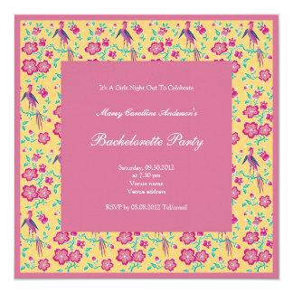 Sakura Floral Batik Bachelorette Party Invitation