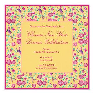 Sakura Floral Batik Chinese New Year Invitation 2