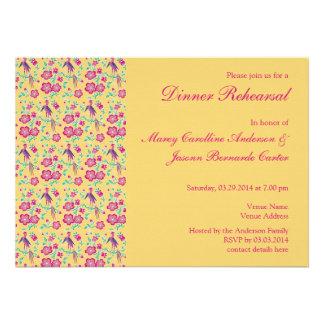 Sakura Floral Batik Rehearsal Dinner Invitation