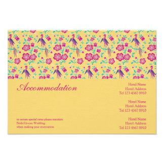 Sakura Floral Batik Wedding Enclosure Card