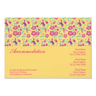 Sakura Floral Batik Wedding Enclosure Card Personalized Invitations