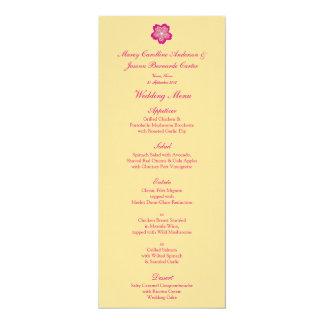 Sakura Floral Batik Wedding Menu 10 Cm X 24 Cm Invitation Card