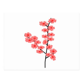 Sakura Flower Clipart Postcard