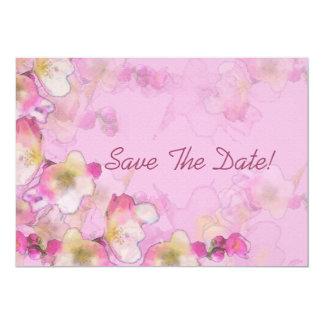 Sakura Save The Date 5x7 Paper Invitation Card