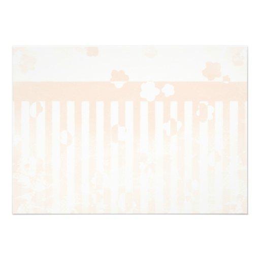 Sakura Stripes Personalized Invitations