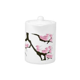 sakura with pink birds by tony fernandes