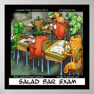 Salad Bar Exam Funny Vegan Lawyer Poster