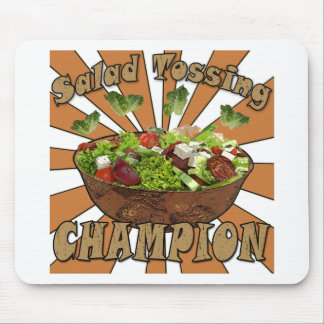 Salad Tossing Champion Mouse Pad