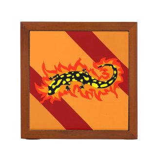 Salamander Flaming Desk Organiser
