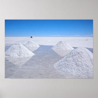 Salar de Uyuni salt flats poster print