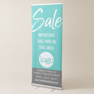 Sale Advertisement - Add Logo and Details Retractable Banner