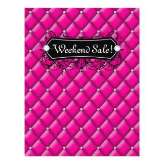SALE Flyer Fashion Jewelry Pink Diamond Tufted