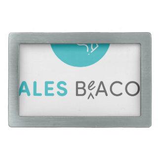 SalesBeacon - Bacon - Grey Rectangular Belt Buckle