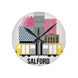Salford Round Clock