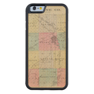 Saline County, Kansas Carved Maple iPhone 6 Bumper Case