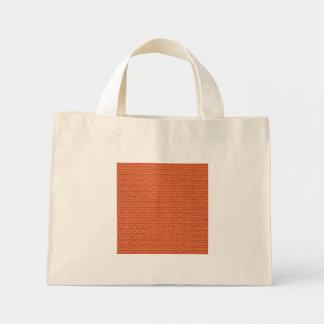 Salmon Coral Weave Mesh Look Mini Tote Bag