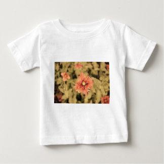 Salmon Opium Poppies on Green Baby T-Shirt