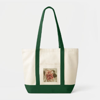 Salmon Pink and Peach Flowers Tote Bag