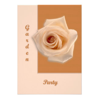 Salmon Rose Personalized Announcements