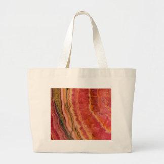 Salmon Striped Quartz Large Tote Bag