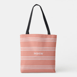 Salmon Stripes custom monogram bags