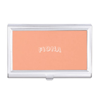 Salmon Sunset Personalized Business Card Holder