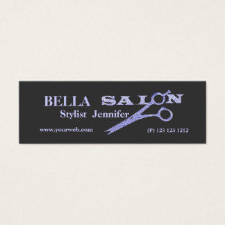 Salon Appointment Design with Hair  Scissors Mini Business Card