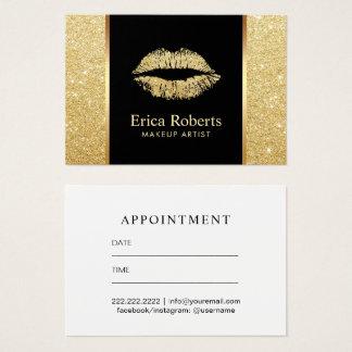 Salon Gold Glitter Lips Makeup Artist Appointment