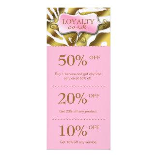 Salon Marketing Cards Pink Gold Zebra Rack Cards