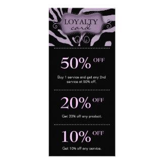 Salon Marketing Cards Purple Zebra Rack Card Template