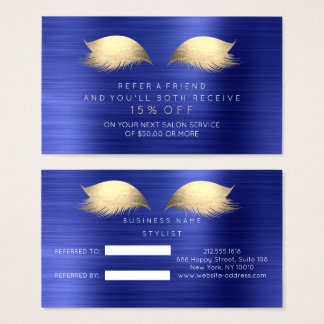 Salon Referral Card Sapphire Foxier Gold Lashes