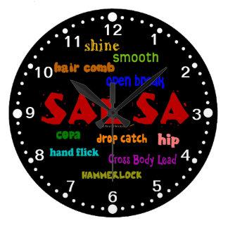 Salsa Dance Terms Latin Dancing Clock with Minutes