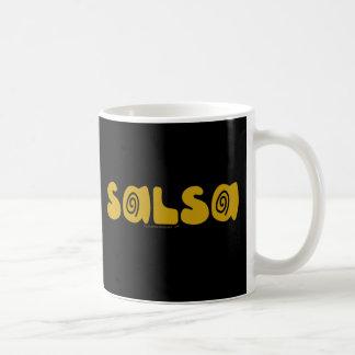 Salsa Dancing Gold Swirls Customizable Coffee Mug