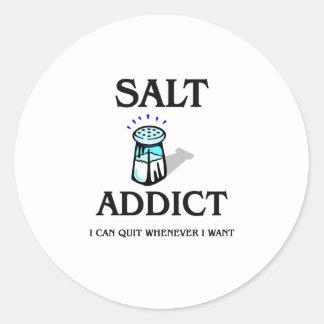 Salt Addict Round Stickers