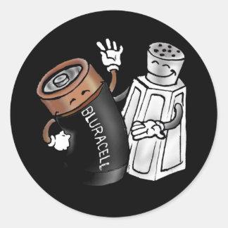 Salt and Battery Round Sticker