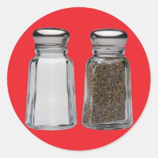 Salt and Pepper Classic Round Sticker