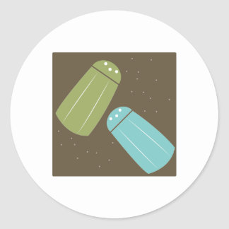Salt And Pepper Shakers Round Sticker