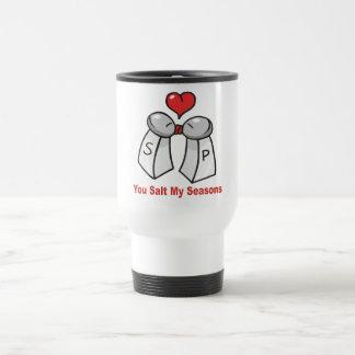Salt and Pepper Shakers Valentine Stainless Steel Travel Mug