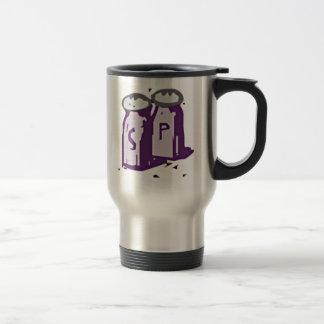 Salt and Pepper Stainless Steel Travel Mug