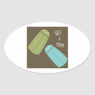 Salt And Pepper Oval Sticker
