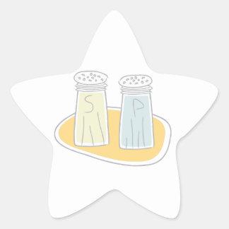 Salt and Pepper Star Sticker