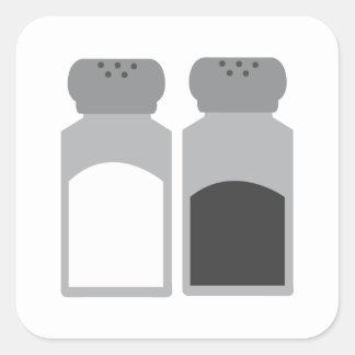 Salt And Pepper Square Sticker