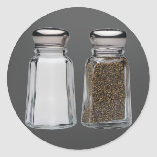 Salt and Pepper Round Stickers