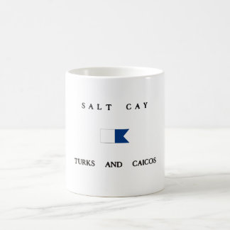 Salt Cay Turks and Caicos Alpha Dive Flag Coffee Mug