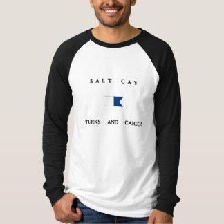 Salt Cay Turks and Caicos Alpha Dive Flag Shirt