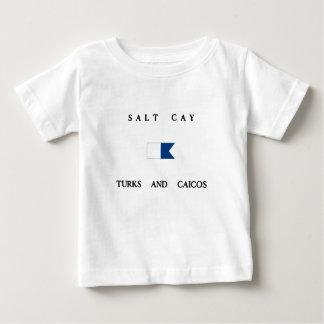 Salt Cay Turks and Caicos Alpha Dive Flag Tee Shirt